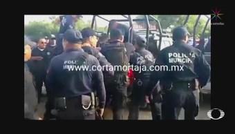 Enfrentan Policías Municipales Estatales Juchitán Oaxaca