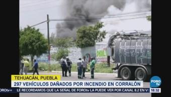 Se Incendia Depósito Vehículos Puebla Corralón