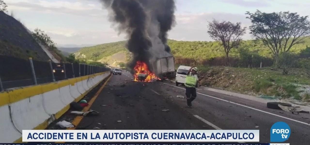 Se registra accidente en la autopista Cuernavaca-Acapulco