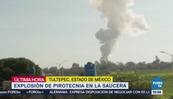 Se registra explosión de pirotecnia en Tultepec