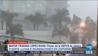 Registran Fuertes Lluvias Inundaciones Zapopan Jalisco
