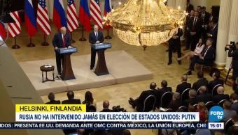 Reúnen Vladimir Putin Donald Trump