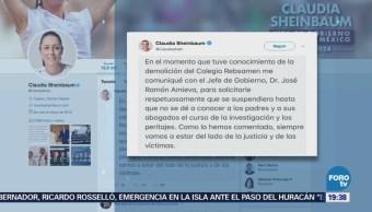 Sheinbaum Amieva No Demoler Colegio Rébsamen