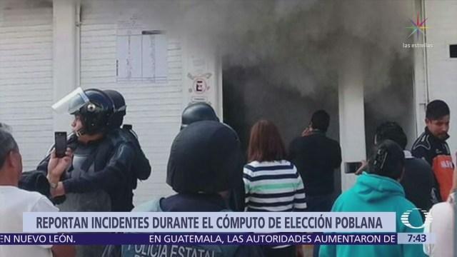 Sigue la violencia en Puebla y queman papelería electoral