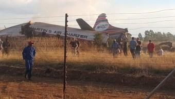 Avión se estrella Pretoria, Sudáfrica; hay un muerto