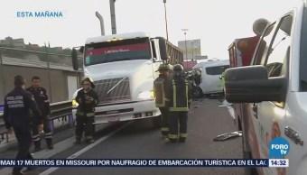 Suman 13 Muertos Choque Combi Autopista México Pachuca
