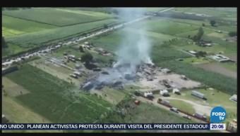 Suman 24 muertos por explosión en Tultepec