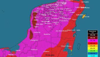 Alertan por temperaturas de 40 grados en Yucatán
