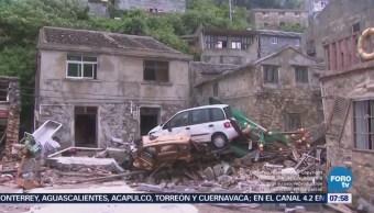 Tifón 'María' provoca severas inundaciones en China