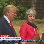 Trump ofrece mensaje tras reunión con Theresa May