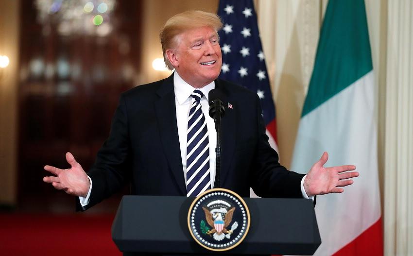 Trump elogia las políticas de inmigración de Italia