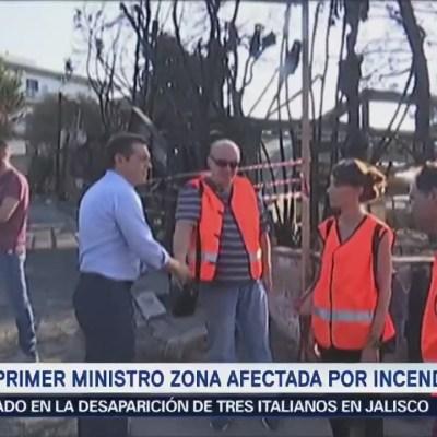 Tsipras visita zona afectada por incendios en Grecia