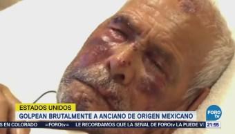 mujer golpeó a un hombre de origen mexicano