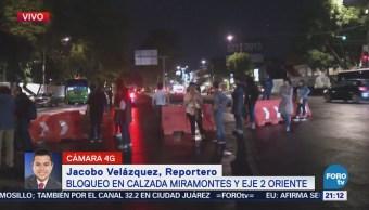 Vecinos Bloquean Calzada Miramontes Eje 2 Oriente Falta De Agua