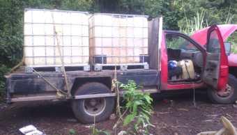 policia oaxaca camioneta combustible robo seguridad