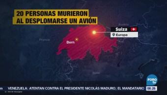 20 personas mueren al desplomarse un avión en Suiza