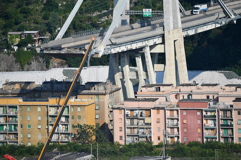 Puente en Génova: finalizan labores de rescate
