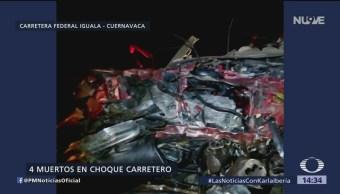Accidente en Guerrero deja cuatro muertos