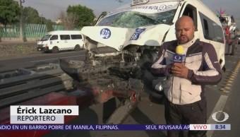 Accidente vehicular en la autopista México-Puebla deja tres lesionados