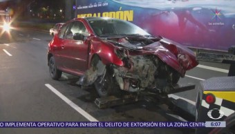 Accidentes vehiculares en CDMX dejan daños materiales