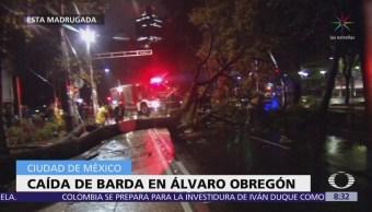Activan alerta naranja por lluvia en delegaciones Álvaro Obregón y Magdalena Contreras