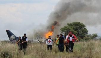 Grabadoras del avión de Aeroméxico accidentado en Durango