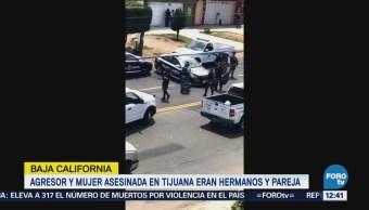 Agresor y mujer asesinada en Tijuana eran hermanos y pareja sentimental