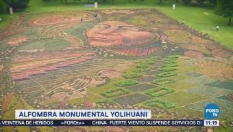 Alfombra monumental Yolihuani especies de flores