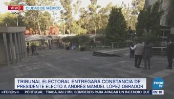 Alistan el TEPJF para entrega de constancia de presidente electo a AMLO