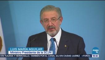 Amlo, Comprometidorespetar Autonomía Corte Andrés Manuel López Obrador Ministro Presidente Luis María Aguilar