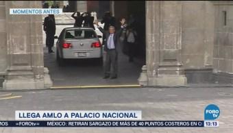 Amlo Llega A Palacio Nacional Iniciar Transición Andrés Manuel López Obrador Iniciar El Proceso De Transición Presidente Enrique Peña Nieto
