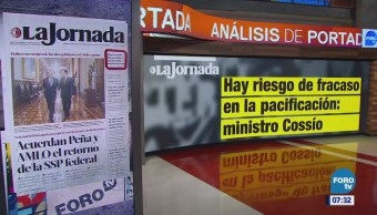 Análisis de portadas nacionales e internacionales 10 agosto