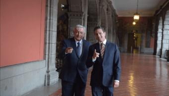 Reunión AMLO Peña Nieto inicia en Palacio Nacional