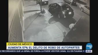 Aumenta el delito de robo de autopartes en la CDMX