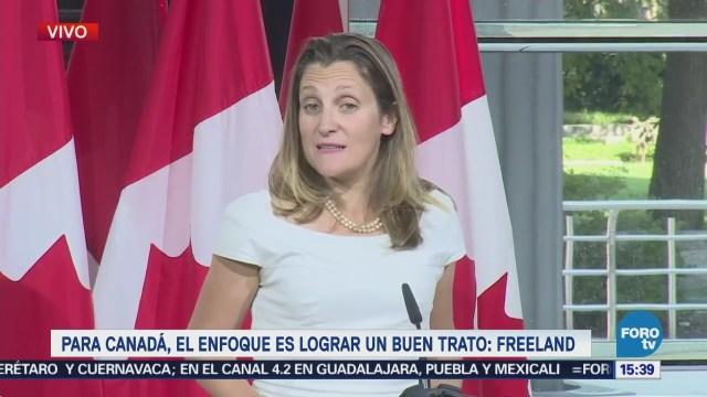 Acuerdo Con EU Informa Chrystia Freeland Ministra Exteriores