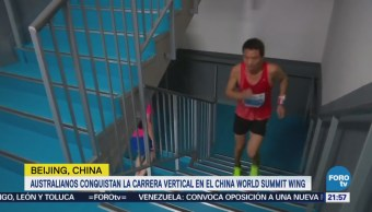 Australianos Conquistan Carrera Vertical China Escalones Beijing