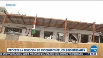 Autorizan Remoción Escombros Colegio Rebsamen