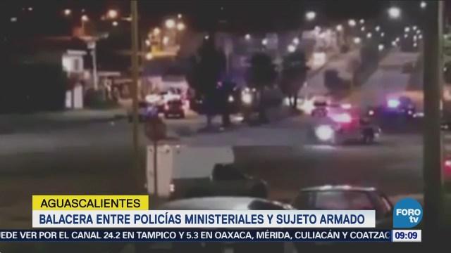 Balacera deja un policía herido en Aguascalientes