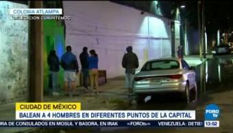 Balaceras Casi Simultaneas Cdmx Dejan Un Muerto Tres Heridos