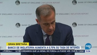 Banco de Inglaterra aumenta tasas de interés