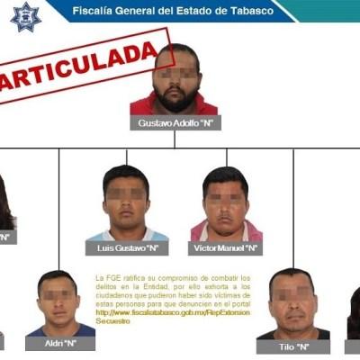 Detienen a presuntos secuestradores que operaban en Tabasco