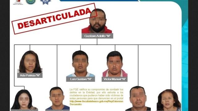 Detienen a secuestradores que operaban en municipios Tabasco