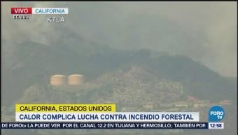 Calor Complica Lucha Contra Incendio Forestal California Eu