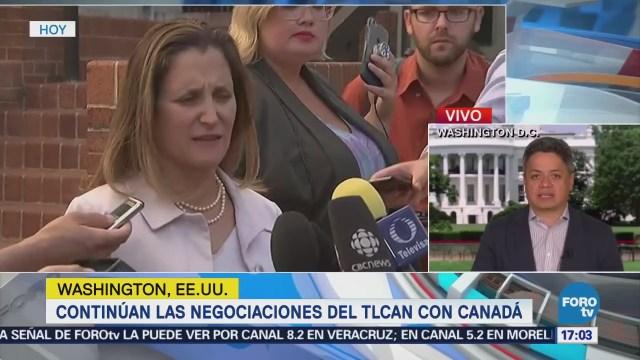 Canadá y EU tienen pendientes tres temas en negociación