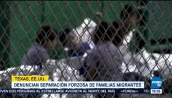 Denuncian separaciones forzadas de familias migrantes
