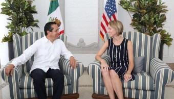 Cónsul de EU se presenta ante autoridades de Quintana Roo