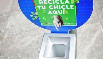 Programa de reciclaje de Chicle en CDMX