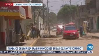 Chimalhuacán regresa a la normalidad luego de inundaciones