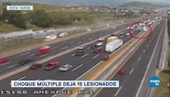 Choque Múltiple Lesionados México Puebla