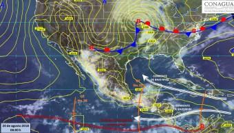 Lluvia predominará en Sinaloa y Nayarit, Pacífico y centro de México